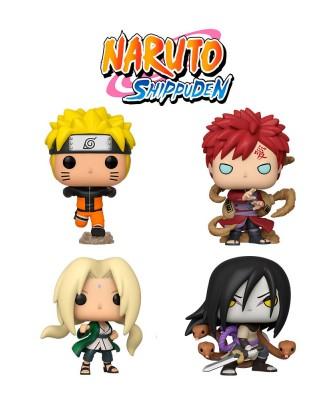 Pack Naruto Corriendo, Gaara, Orochimaru y Lady Tsunade Naruto Muñeco Funko Pop! Vinyl