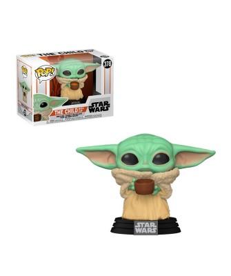 The Child (Baby Yoda con Cuenco) The Mandalorian Star Wars Muñeco Funko Pop! Bobble Vinyl [378]