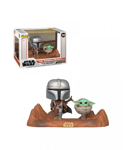 Mandalorian & The Child Movie Moment The Mandalorian Star Wars Muñeco Funko Pop! Bobble Vinyl [390]