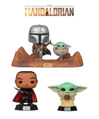 Pack Baby Yoda con Cuenco, Moff Gideon y Movie Moment The Mandalorian Star Wars Muñeco Funko Pop! Bobble Vinyl