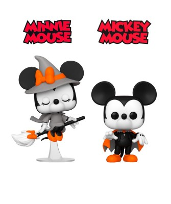 Pack Mickey y Minnie Mouse Halloween Disney Muñeco Funko Pop! Vinyl