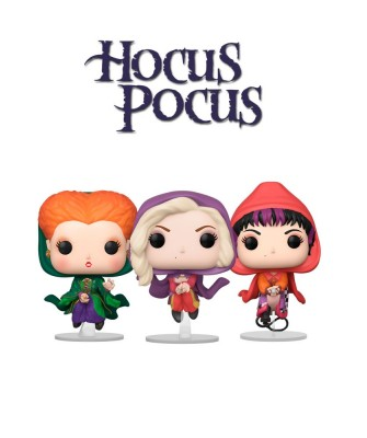 Pack Sarah Sanderson, Winifred Sanderson y Mary Sanderson Volando Hocus Pocus Disney Muñeco Funko Pop! Vinyl