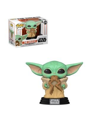 Baby Yoda con Rana The Mandalorian Star Wars Muñeco Funko Pop! Bobble Vinyl [379]