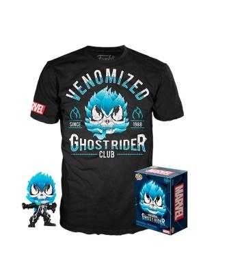 Ghost Rider Venomized Marvel Pop! & Tee Caja Funko