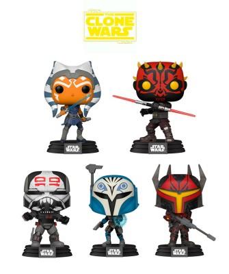 Pack Star Wars Clone Wars Muñeco Funko Pop! Bobble Vinyl