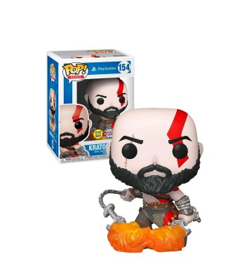 Special Edition Kratos con las Espadas del Caos (Brilla en la Oscuridad) God of War Play Station Muñeco Funko Pop! [154]