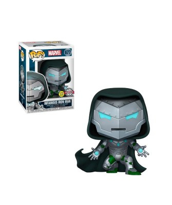 Special Edition Infamaous Iron Man (Brilla en la Oscuridad) Marvel Muñeco Funko Pop! Bobble Vinyl [677]