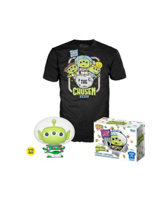 Alien Buzz Lightyear Alien Remix Disney (Brilla en la Oscuridad) Pop! & Tee Caja Funko