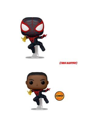 Miles Morales (Classic Suit) Marvel's Spider-Man Miles Morales Muñeco Funko Pop! Bobble Vinyl