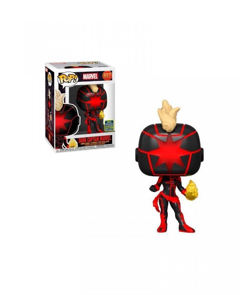 Summer Convention 2020 Capitana Marvel Oscura Marvel Muñeco Funko Pop! Bobble Vinyl [657]