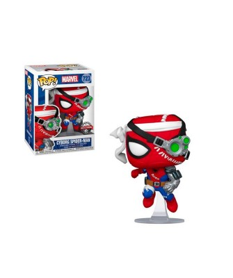 Special Edition Spider-Man Cyborg Marvel Muñeco Funko Pop! Bobble Vinyl [723]