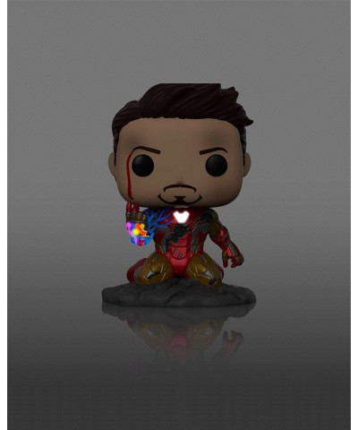 Iron Man I Am Iron Man (Brilla en la oscuridad) Avengers Endgame Marvel Funko Pop! Bobble Deluxe Vinyl [580]
