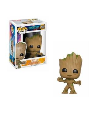 Groot Guardianes de la Galaxia Vol.2 Marvel Muñeco Funko Pop! Bobble Vinyl [202]