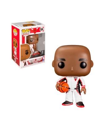 Special Edition Michael Jordan White Warm-Up Chicago Bulls NBA Muñeco Funko Pop! Vinyl [84]