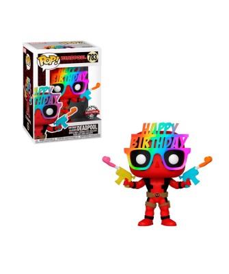 Special Edition Deadpool Gafas Cumpleaños Marvel Muñeco Funko Pop! Bobble Vinyl [783]